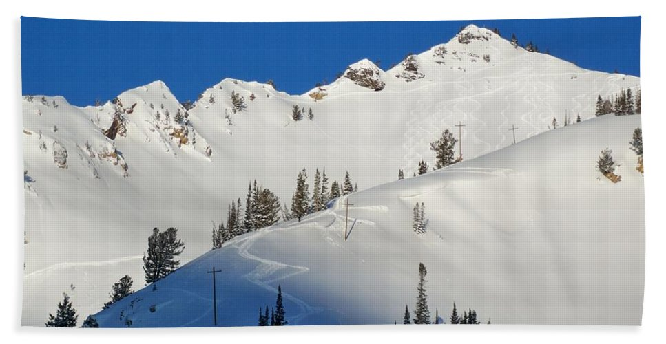 Ski Hand Towel featuring the photograph Morning Pow Wow by Michael Cuozzo