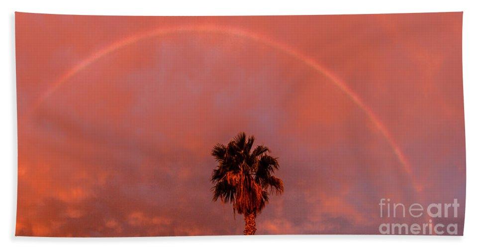 Rainbow Bath Sheet featuring the photograph Morning Rainbow by Robert Bales
