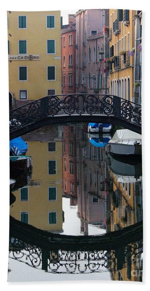 Venice Italy Hand Towel featuring the photograph Morning Reflection by Amy Sorvillo