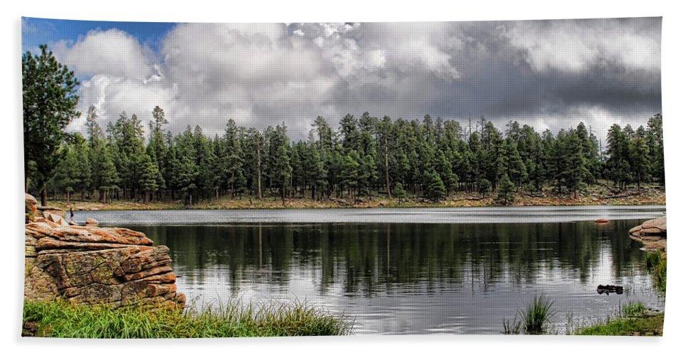 Arizona Bath Sheet featuring the photograph Morning Serenity by Saija Lehtonen
