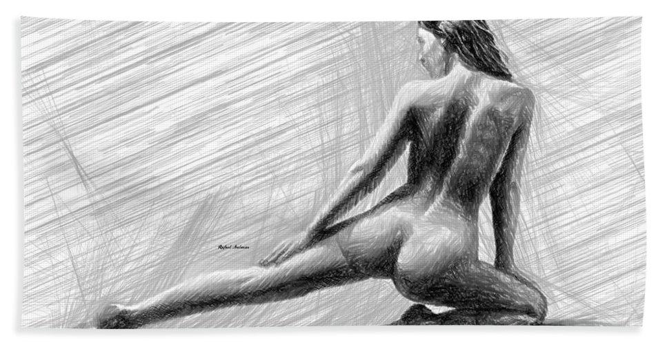 Art Hand Towel featuring the digital art Morning Stretch by Rafael Salazar