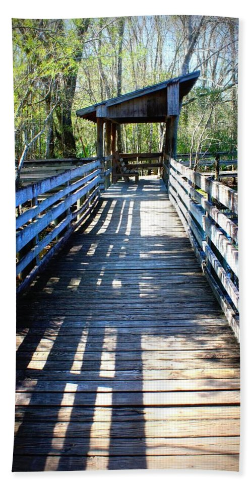 Florida Bath Sheet featuring the photograph Morris Bridge Boardwalk by Carol Groenen