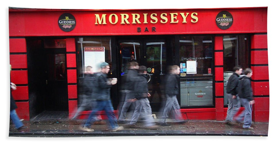 Pub Bath Sheet featuring the photograph Morrissey by Tim Nyberg