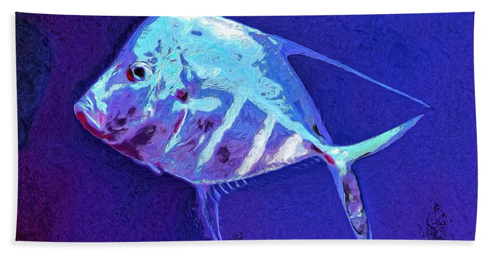 Fish Hand Towel featuring the painting Morton by Dominic Piperata