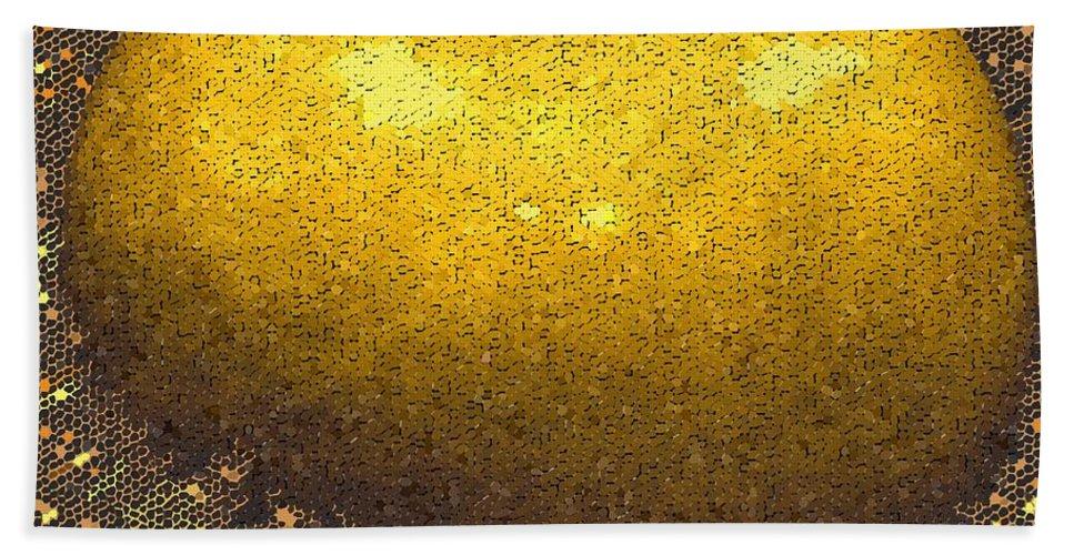Apple Bath Sheet featuring the digital art Mosaic Apple by Ian MacDonald