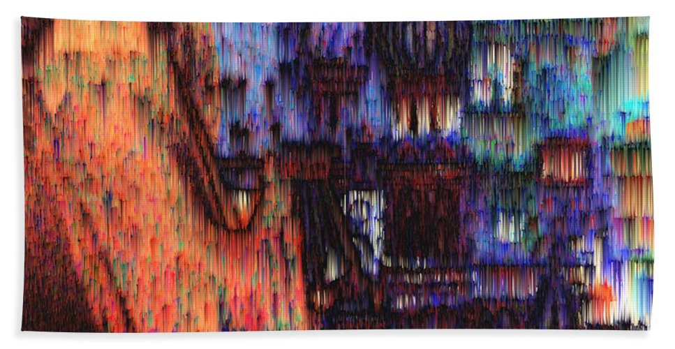 Fog Bath Sheet featuring the digital art Moscow In The Rain by Seth Weaver