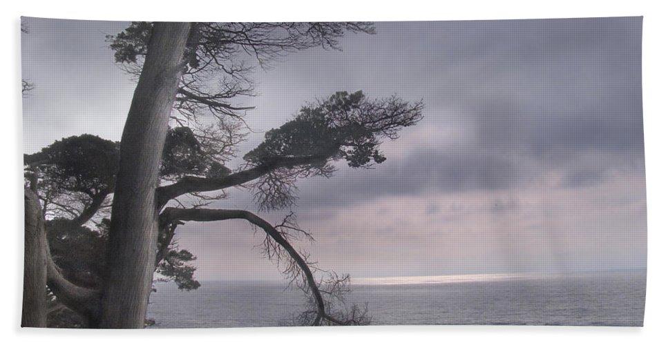 Ocean Hand Towel featuring the photograph Moss Beach by Karen W Meyer