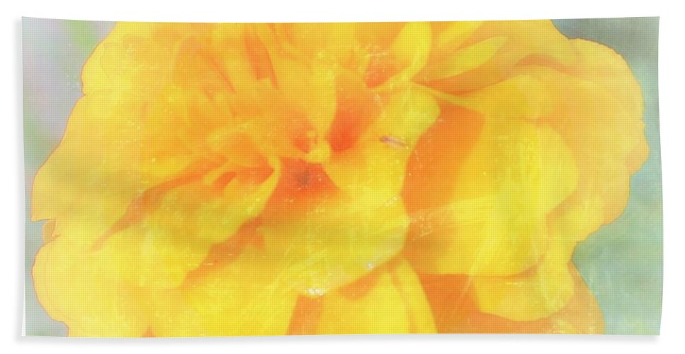 Yellow Bath Sheet featuring the photograph Mostly Yellow by Mario MJ Perron