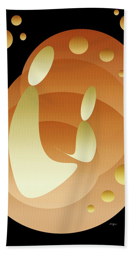 Abstract Bath Sheet featuring the painting Mother And Daughter by Laura Greco