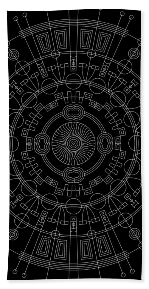 Relief Hand Towel featuring the digital art Mother Inverse by DB Artist