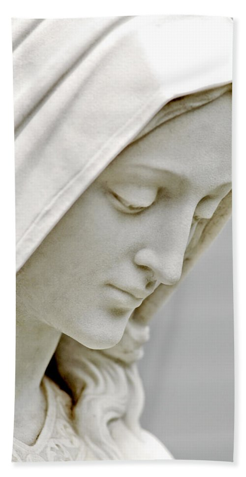 Statue Hand Towel featuring the photograph Mother Mary Comes To Me... by Greg Fortier