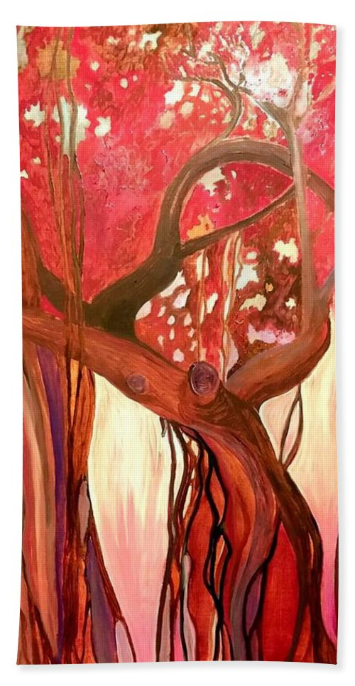 Tree Hand Towel featuring the painting Mother Tree by Cindy Harvell