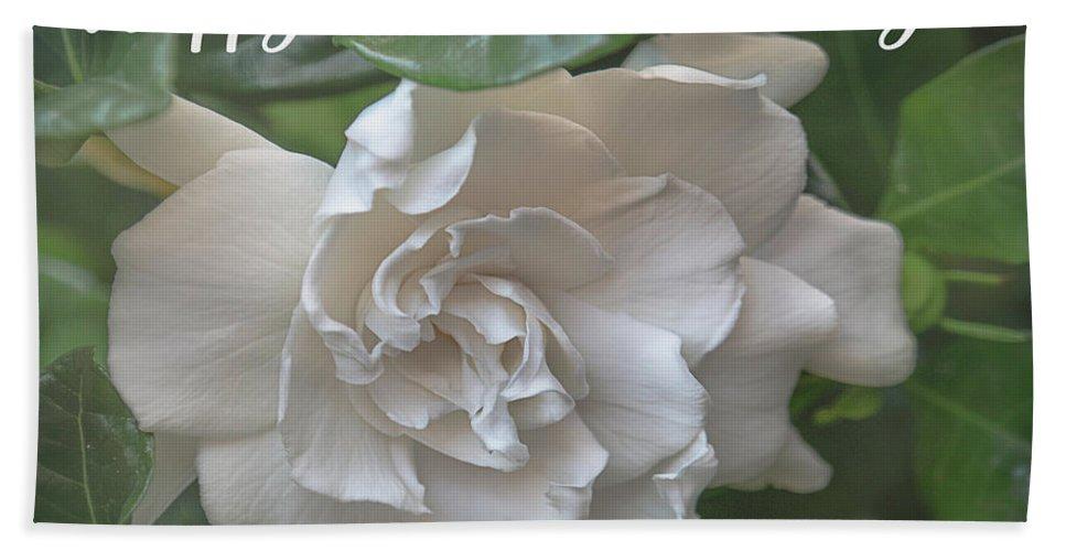 Gardenia Hand Towel featuring the photograph Mother's Day Gardenia by Teresa Wilson