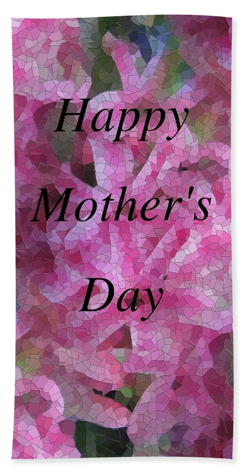 Flowers Bath Sheet featuring the digital art Mother's Day Pretty In Pink by Tim Allen