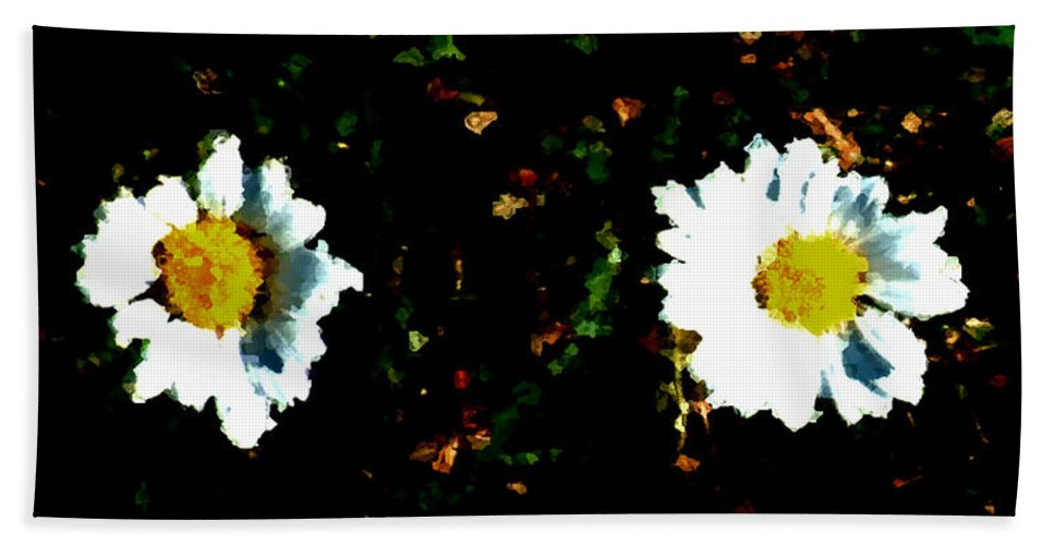 Minimalist Hand Towel featuring the painting Motif Noir No. 1 by RC DeWinter