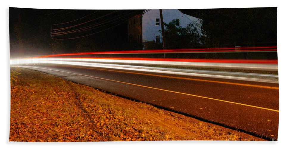 Cars Hand Towel featuring the photograph Motion by Cj Mainor