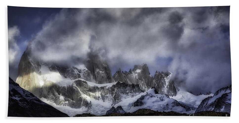 Patagonia Hand Towel featuring the photograph Mount Fitz Roy 6 by Timothy Hacker