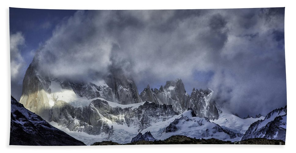 Patagonia Hand Towel featuring the photograph Mount Fitz Roy 7 by Timothy Hacker