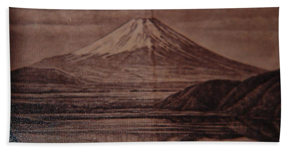 Mount Fuji Bath Towel featuring the photograph Mount Fuji by Rob Hans