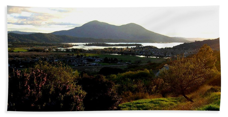 Mount Konocti Hand Towel featuring the photograph Mount Konocti by Will Borden