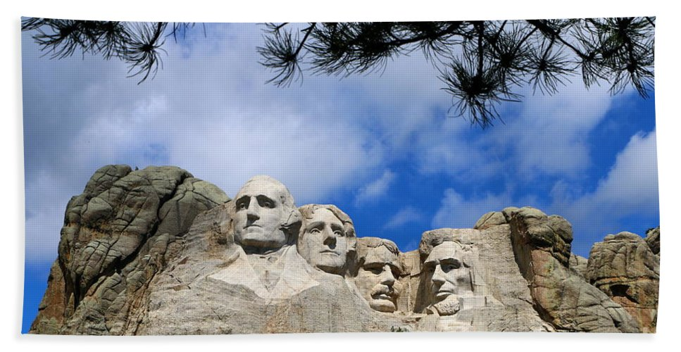 Mount Hand Towel featuring the photograph Mount Rushmore by Christiane Schulze Art And Photography