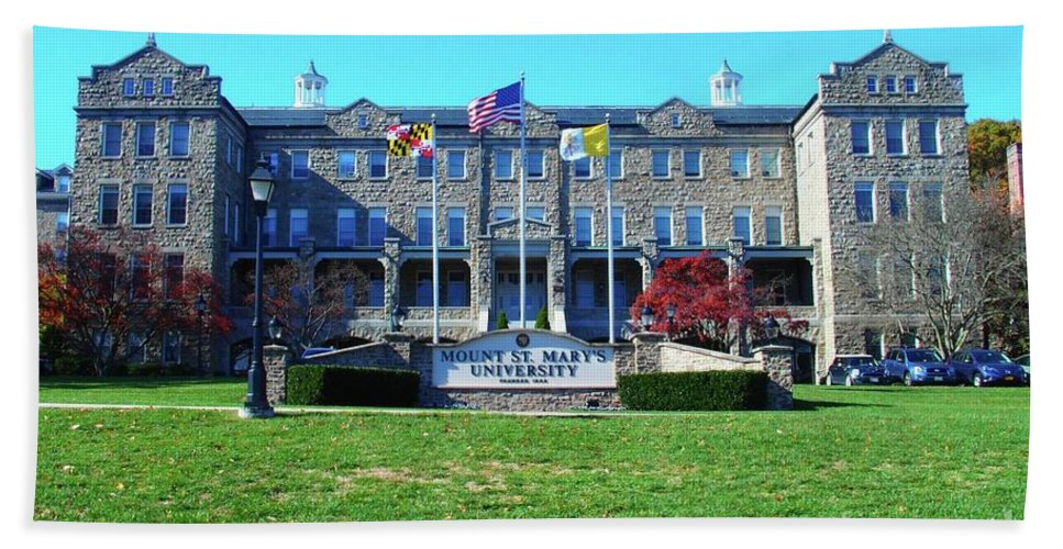 Mount Hand Towel featuring the photograph Mount Saint Mary's University by Tom Maxwell