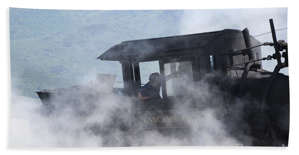 Hike Bath Towel featuring the photograph Mount Washington Cog Railroad - New Hampshire Usa by Erin Paul Donovan