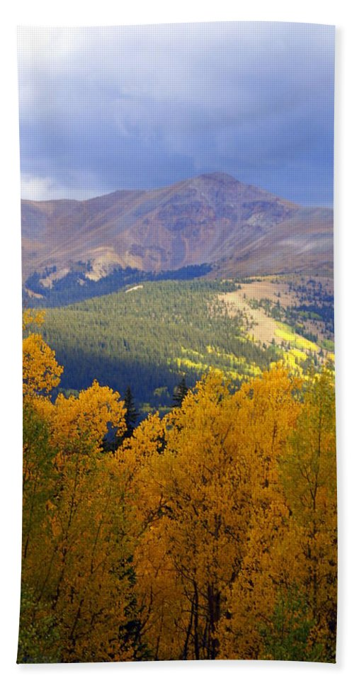 Colorado Bath Towel featuring the photograph Mountain Fall by Marty Koch