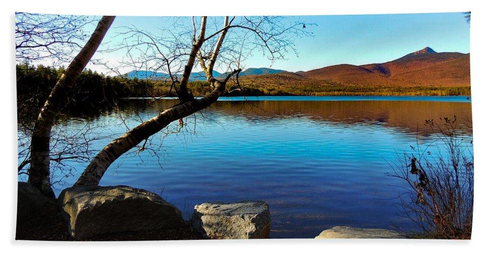 Chocorua Lake Nh Hand Towel featuring the photograph Mountain Lake Chocorua by Mim White