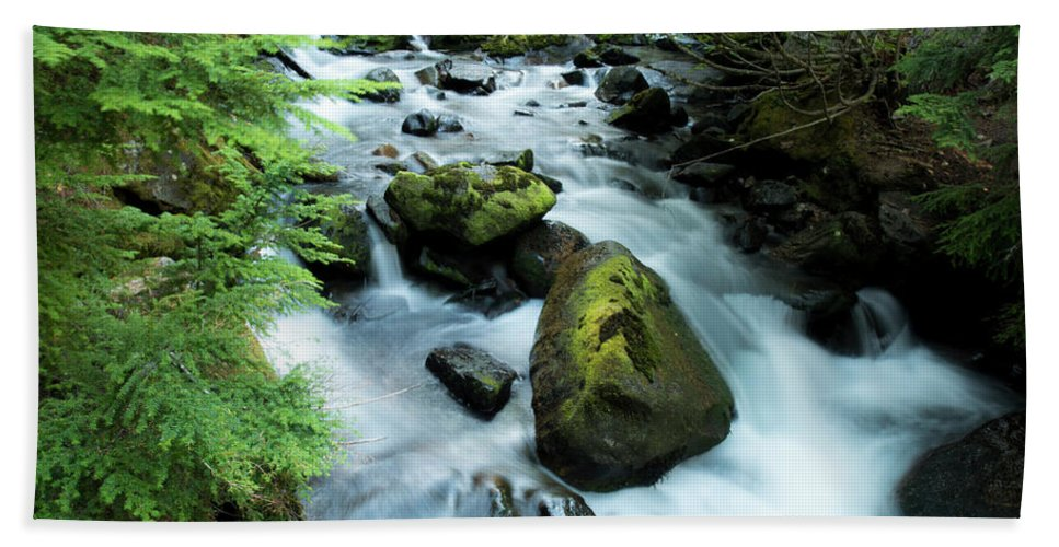 River Hand Towel featuring the photograph Mountain River by Christopher Swafford