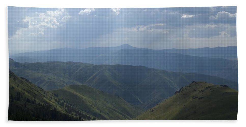 Mountains Hand Towel featuring the photograph Mountain Top 1 by Sara Stevenson