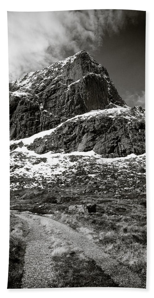 Mountains Bath Sheet featuring the photograph Mountain Track by Dave Bowman