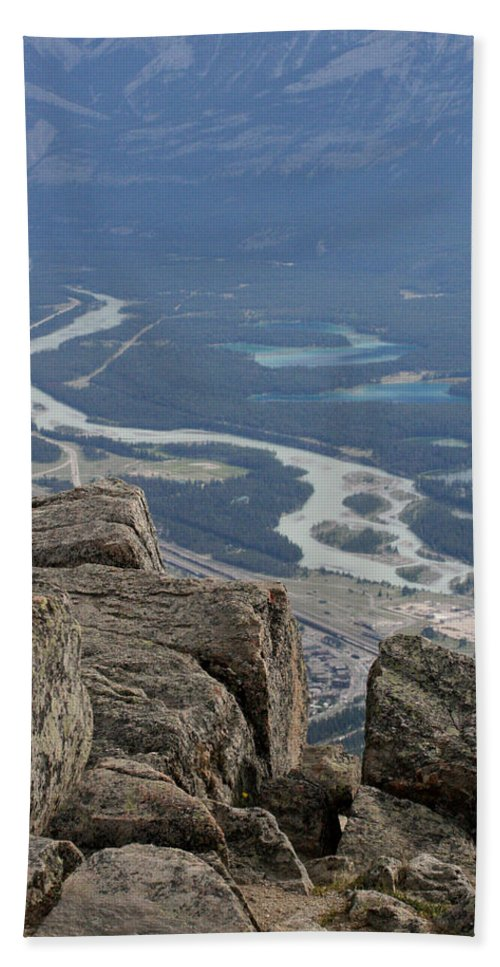 Rocky Mountains Hand Towel featuring the photograph Mountain View by Mary Mikawoz