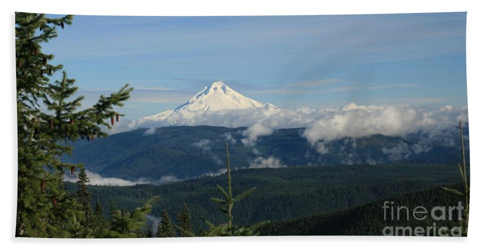 Landscape Hand Towel featuring the photograph Mountain View by Sheila Ping