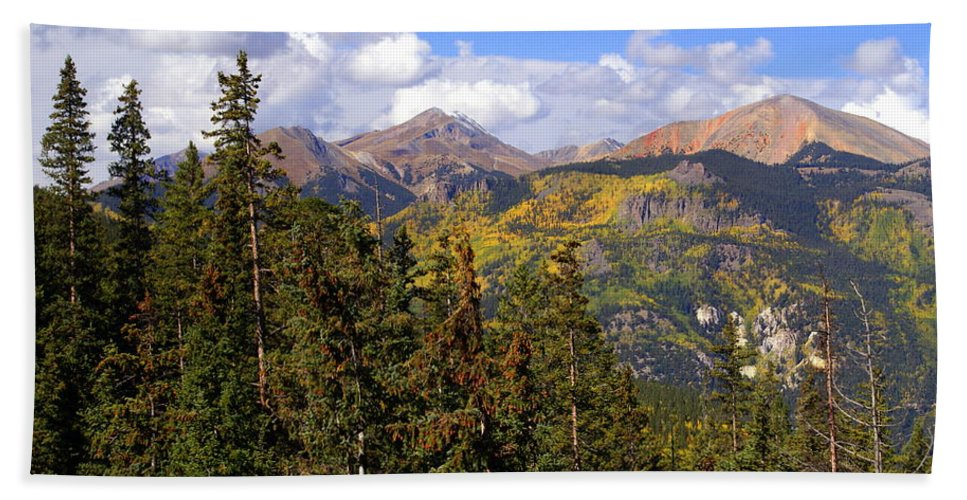 Colorado Bath Towel featuring the photograph Mountains Aglow by Marty Koch