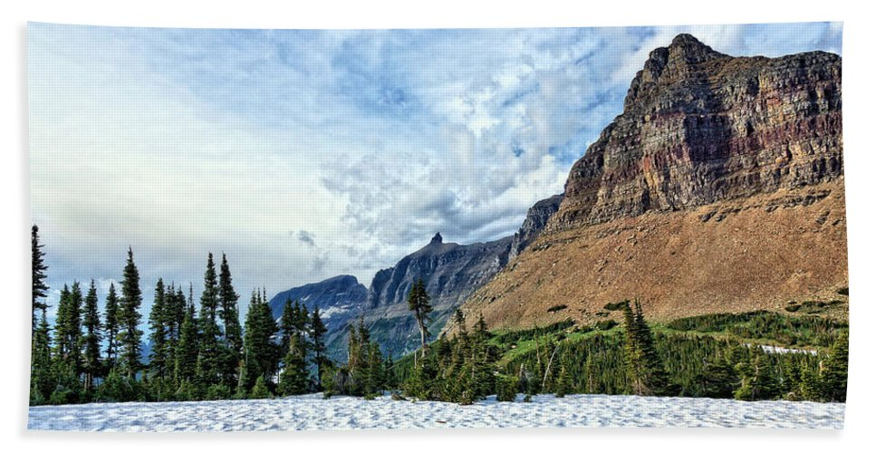 Mountains Hand Towel featuring the photograph Mountains In Glacier National Park 2 by John Trommer