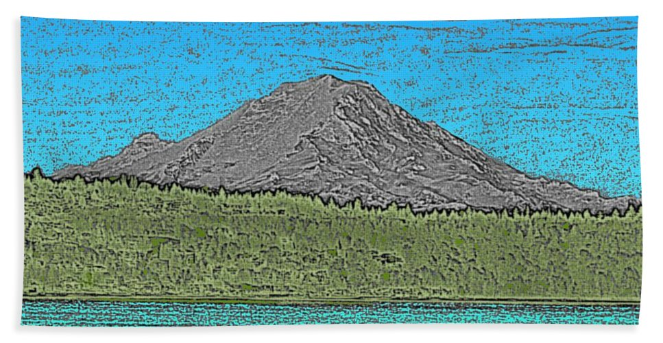 Mountain Hand Towel featuring the digital art Mountains Majesty by Tim Allen