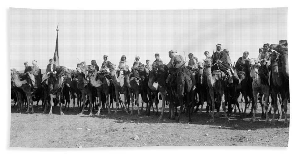 1921 Bath Sheet featuring the photograph Mounted Guard, 1921 by Granger