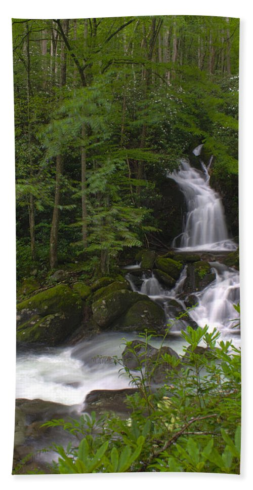 Mouse Creek Bath Sheet featuring the photograph Mouse Creek Falls by Nunweiler Photography
