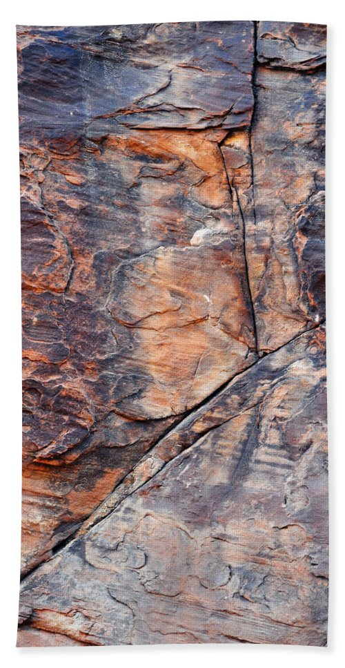Valley Of Fire State Park Hand Towel featuring the photograph Mouse's Tank Canyon Wall by Kyle Hanson