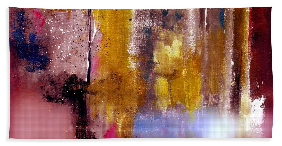 Abstract Bath Sheet featuring the painting Moving Light by Ruth Palmer