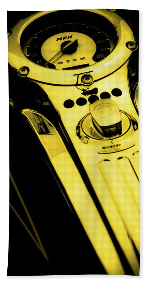 Mph Yellow Hand Towel featuring the photograph Mph Yellow 5485 G_3 by Steven Ward
