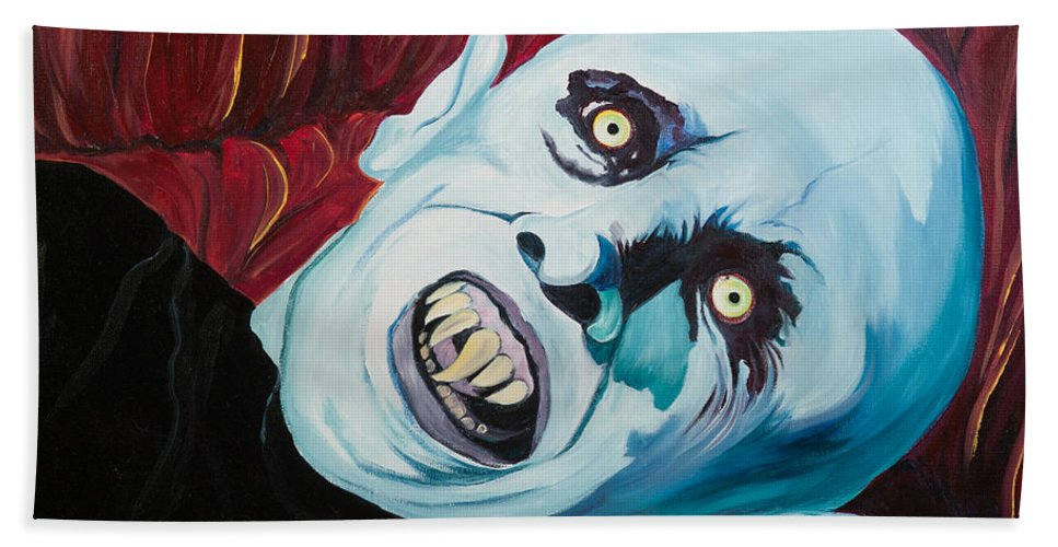 Vampire Hand Towel featuring the painting Mr. Barlow by Heather Grisham