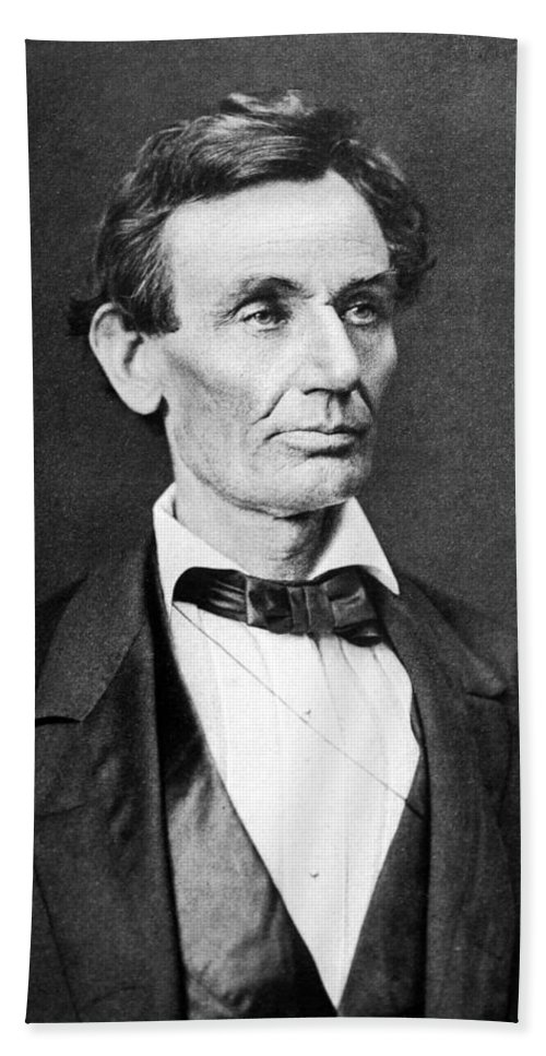 Abraham Lincoln Hand Towel featuring the photograph Mr. Lincoln by War Is Hell Store