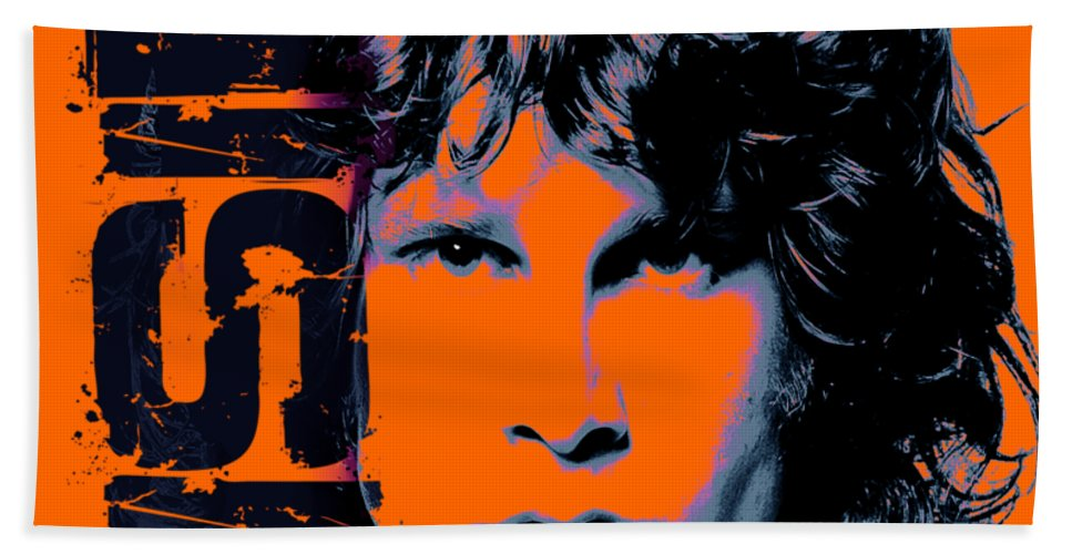 The Doors Bath Towel featuring the digital art Mr Mojo Risin by Mal Bray