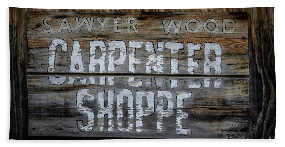 Carpenter Bath Sheet featuring the photograph Mr. Sawyer Wood by Lynn Sprowl
