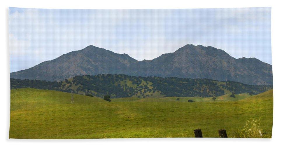 Landscapes Bath Towel featuring the photograph Mt. Diablo Mcr2 by Karen W Meyer