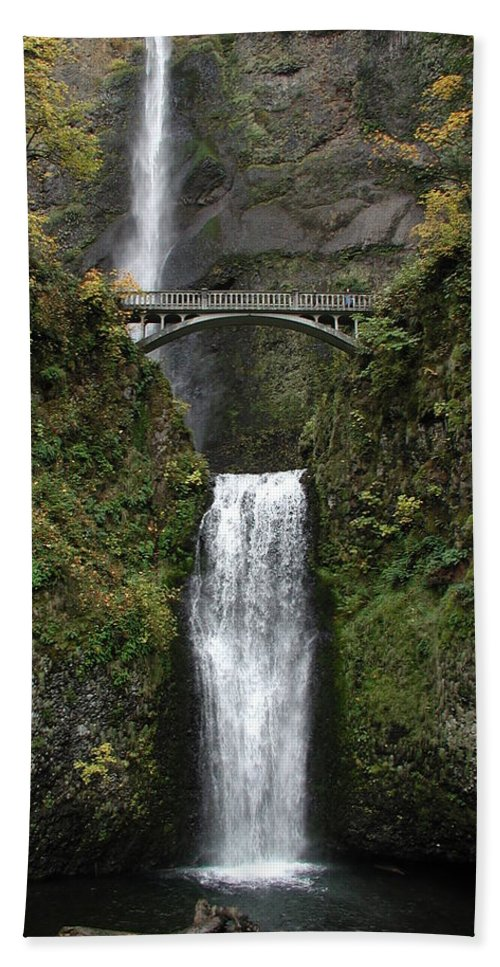 Multnomah Falls Hand Towel featuring the photograph Multnomah Falls 1 by D'Arcy Evans
