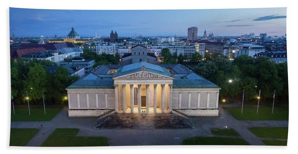 Dji Bath Sheet featuring the photograph Munich Koenigsplatz Impressions by Hannes Cmarits
