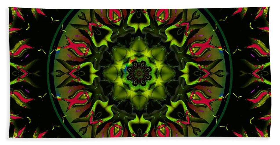 Green Hand Towel featuring the digital art Murphys Law by Robert Orinski